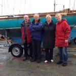 Steve and Anne Allen collect Durward 1